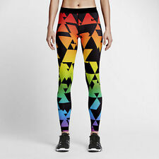 Nike Pro Be True Womens Training Tights Small S Rainbow Multi-color  New Pants
