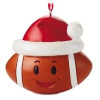 Hallmark 2016 Football with Santa Hat Gift Ornament