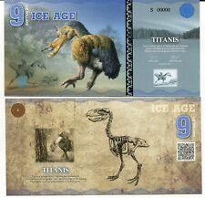 Ice Age 9 Ice Dollars 2015 Paper Titanis Bird Specimen Unc