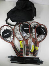 Angry Birds Badminton Rackets w/ Angry Bird Logo in Black Carrying Case w/ Poles