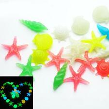 10pcs Luminous Stone Shells Star Fish Tank Aquarium Plastic Stones Decor
