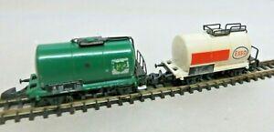 Märklin Z Gauge Tank Wagon Esso 8612 And Bp 8614