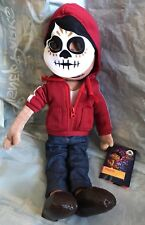 DISNEY STORE COCO MIGUEL PLUSH HOODIE WITH WORKING ZIPPER FELT FACEPAINT MASK