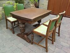 Old charm oak extending dining table 4 matching chairs cash on pick up Barnsley