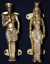 Egypt King And Queen Figure Door Handle Brass Egypt Style Window Door Pull BM5