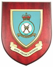 RAF ROYAL AIR FORCE REGIMENT CLASSIC HAND MADE IN THE UK REGIMENT MESS PLAQUE