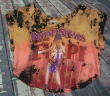 LF Tee Furst Of A Kind Britney Spears Circus Crop Top Holes Distressed Tie Dye