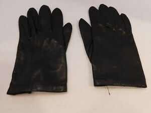 ISOTONER LADIES BROWN LEATHER GLOVES SILK LINING SIZE SMALL