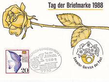 West Germany 1988 Stamp Day FDC Villingen CDS Special Card