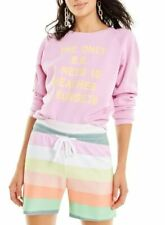 Wildfox Womens WFL1909F4 Sweatshirt Relaxed Pink Size S