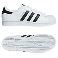 adidas ORIGINALS SUPERSTAR FOUNDATION WHITE BLACK GOLD TRAINERS SHELL TOP SHOE