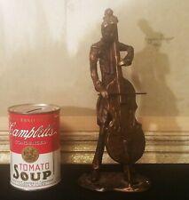 New listing Bass Viol mcm bronze statue figurine orchestra jazz band vtg classical music art 00004000