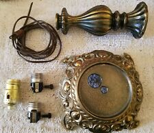 Complete Restoration Kit for Vintage Cast Metal Parts For Glass Body Table Lamp.