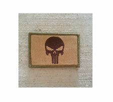 Morale Patch Special Ops SOG - Punisher Skull Nylon ARID / MC - NEW Style
