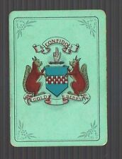 Swap Playing Cards 1 VINT WIDE JOHNNIE WALKER COAT OF ARMS WHISKY GREEN H/B D9