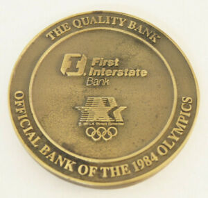 First Interstate Bank of California 1984 Los Angeles Olympics Medal Medallion
