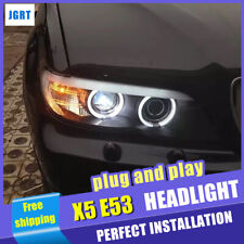 New For BMW X5 E53 Headlights assembly 2004-2006 Bi-xenon Lens Projector LED DRL