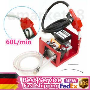 220V 25mm Electric Oil Transfer Pump 60L/Min Fuel Diesel Self-Priming Pump 1inch