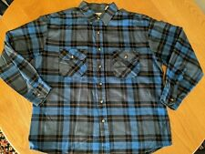 VINTAGE NORTHWEST TERRITORY PLAID FLANNEL BUTTON UP SHIRT, xl blue black
