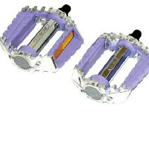 Victor Pedals Lavender 1/2 BMX Pedals - Lavender & Silver 1/2 Pedals NEW!