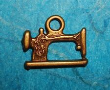 Bronze Sewing Machine Charm Tailor Seamstress Quilt Maker Sew Crafts Designer