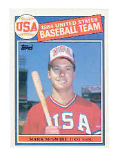 1985 T0PPS MARK MCGWIRE #401 ROOKIE BASEBALL CARD IN  MINT CONDITION!