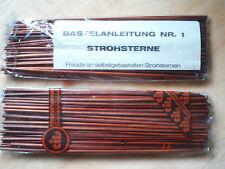 500 Bastelhalme für Strohsterne - dunkel -mit Anleitung  10x50 Stück  neu + ovp