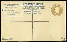 51/2D Brown George Vi Registered Envelope Unused Rp52 F