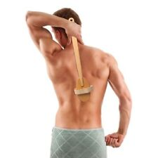 Body Brush for Dry or Wet Skin Exfoliating Long Wood Handle Back Scrubber with