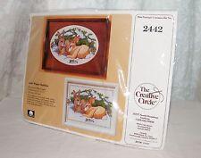 New The Creative Circle 2442 Winter Rabbits Cross Stitch Pattern / Kit