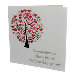 Handmade PERSONALISED Congratulations On Your ENGAGEMENT Card