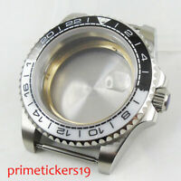 Stainless Steel 40mm Watch Case with Sapphire Glass Ceramic Fit MIYOTA Movement