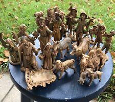 Fontanini 1983 Vintage 20 Piece Nativity Scene Set Italy Loose Figurines Depose