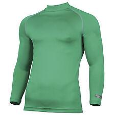 Mens Rhino Thermal Warm Lightweight Colour Baselayer Turtleneck Long Sleeve Top