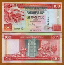 Hong Kong, $100, 1998, HSBC, P-203b, UNC > Red Lion