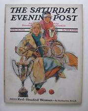 AUG 1931 SATURDAY EVENING POST COMPLETE MAGAZINE 100 PGS COMPLETE TENNIS