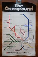 1970 Inter City The Overground Route Map Original Railway Travel Poster