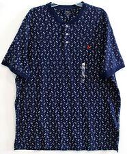 Polo Ralph Lauren Mens Navy Blue Anchor Henley Featherweight Mesh Shirt NWT 2XL