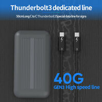 Thunderbolt 3 SSD Enclosure with Prime,External NVME Hard Drive Case for MacBook