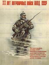 WAR PROPAGANDA WW2 NKVD ANNIVERSARY SOVIET UNION VINTAGE ADVERT POSTER 2749PY