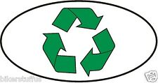 RECYCLE OVAL SIGN BUMPER STICKER
