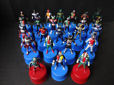 Super Rare! BANDAI Kamen Rider Bottle Cap Figure 25 Piece Seven-Eleven Limited