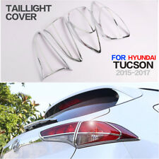 Taillight Covers For Hyundai Tucson 2016 2017 2018 Rear Lamp Trim Modling Chrome