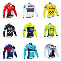 Mens Cycling Jersey Long Sleeve Shirt Road Bike Clothing Breathable Sports Shirt