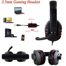 3.5mm Gaming Headset Voice Control Wired HI-FI HeadPhone For PS4 PC Phone Black