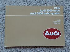 1985 Audi 5000 turbo quattro Owners Manual - Pristine Condition -