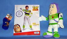 "Disney Buzz Lightyear Toy Story costume gloves boys S 4-6-socks;doll 15""EUC-LOT"