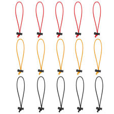 15-Pack Multipurpose 3mm Extra Long Toggle Tie/Elastic Cable Tie (Red+BK+Orange)