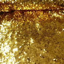 Pailletten Stoff lose goldfarbig 1,3m Breite