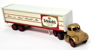 Winross USA Vintage Schmidt's Of Philly Beer Truck Big Rig Box Trailer Toy